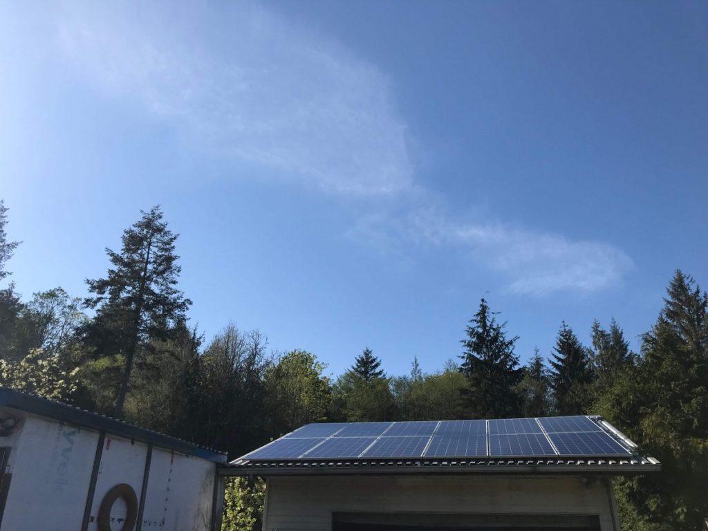 garage rooftop solar panel installation sooke bc
