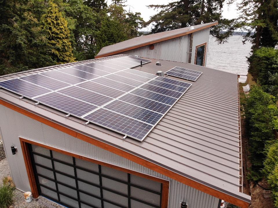 garage rooftop solar panel installation Nanaimo BC