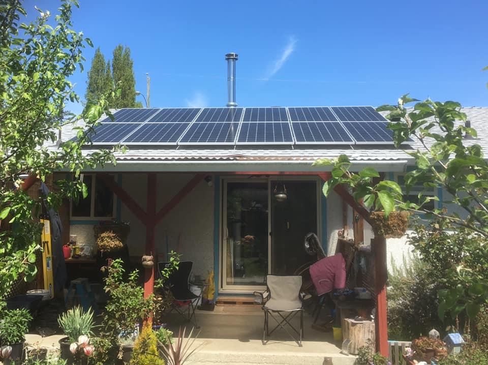rooftop solar panel installation Parksville BC