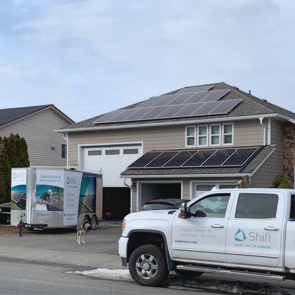 rooftop solar panel installation Ladysmith BC