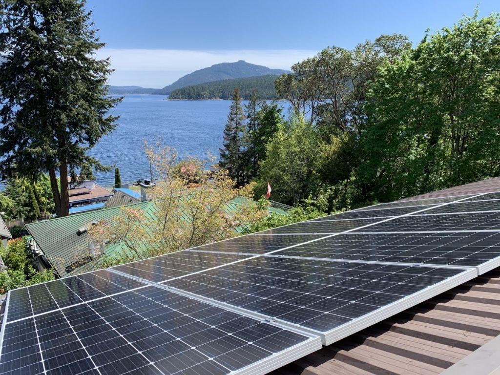 rooftop solar installation Maple Bay BC
