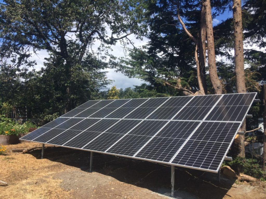 ground mount solar array Victoria BC