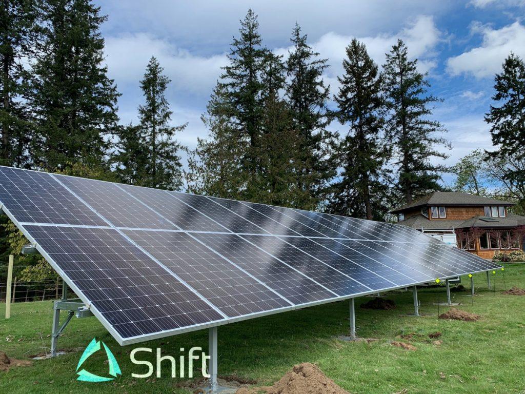 ground mount solar installation Chemainus BC