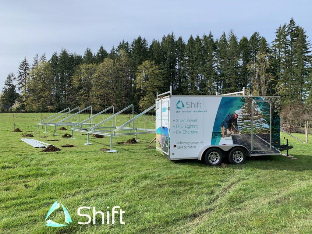 ground mount solar panel installation in Chemainus BC