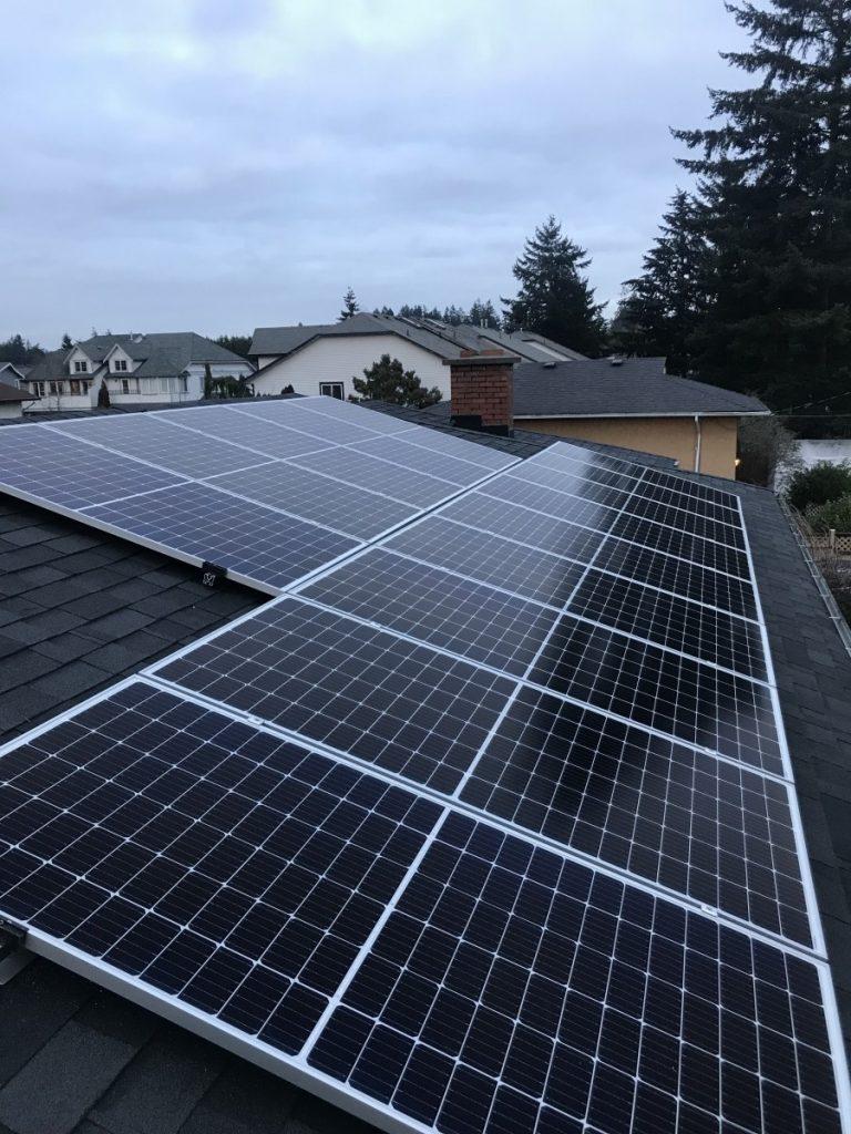 rooftop solar panel installation Sooke BC