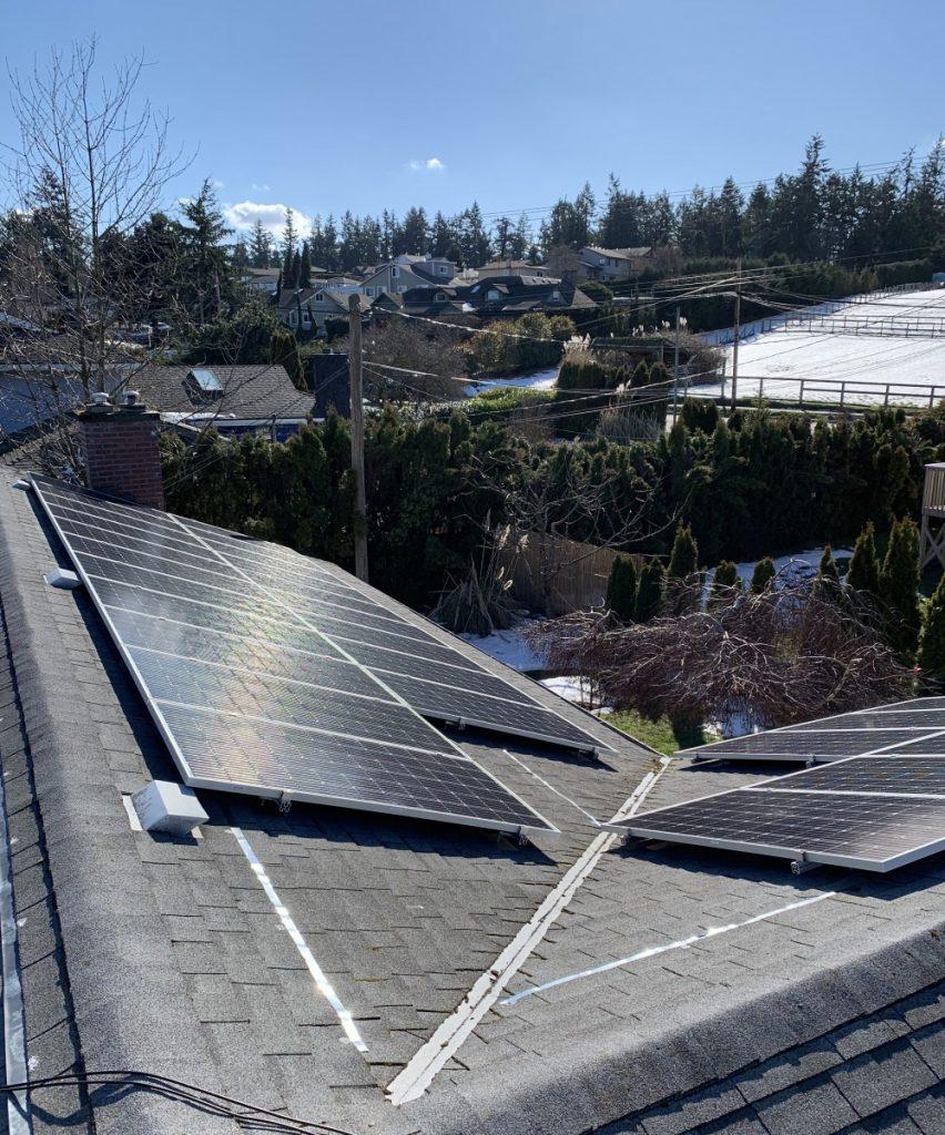 rooftop solar panel installation Saanichton BC