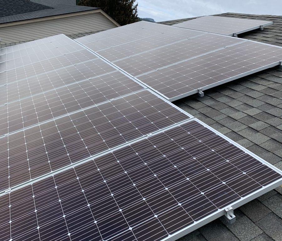 rooftop solar panel installation in Ladysmith BC