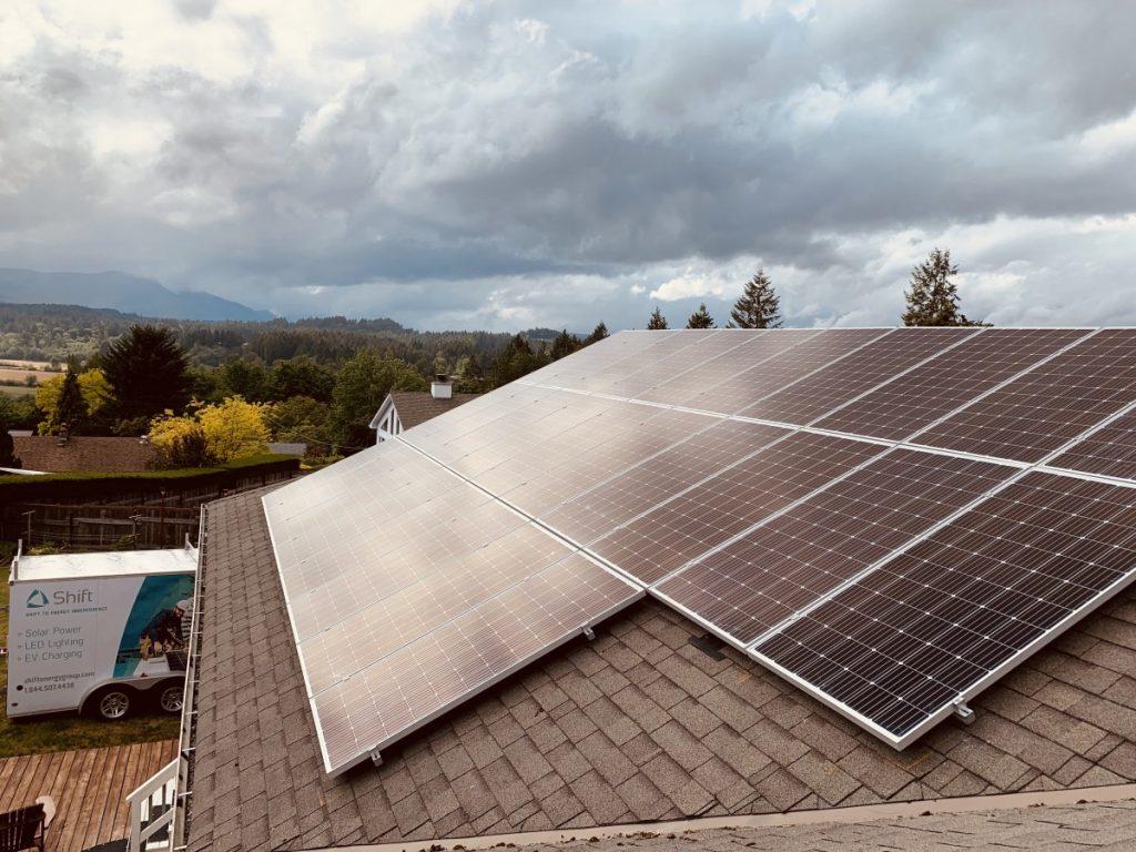 rooftop solar panel installation Duncan BC