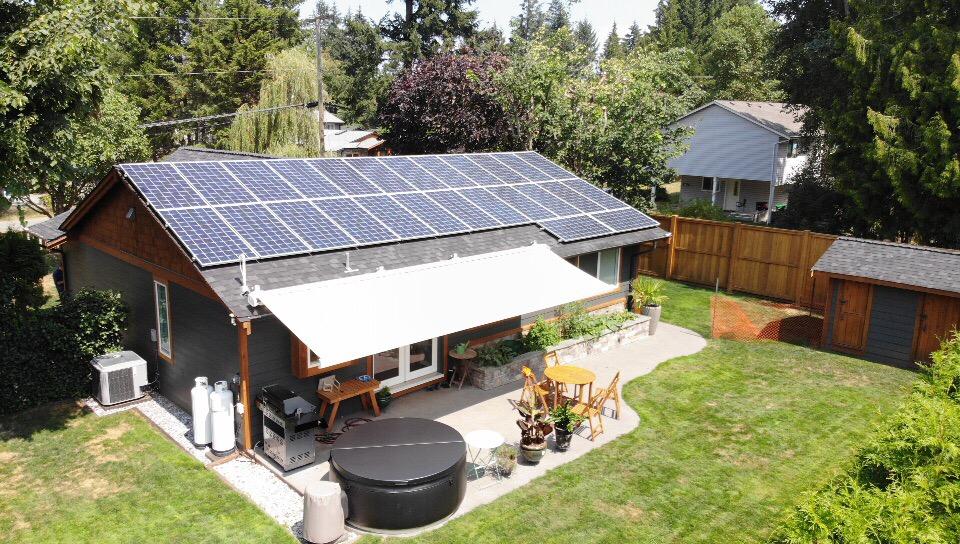 rooftop solar panel installation Nanaimo BC