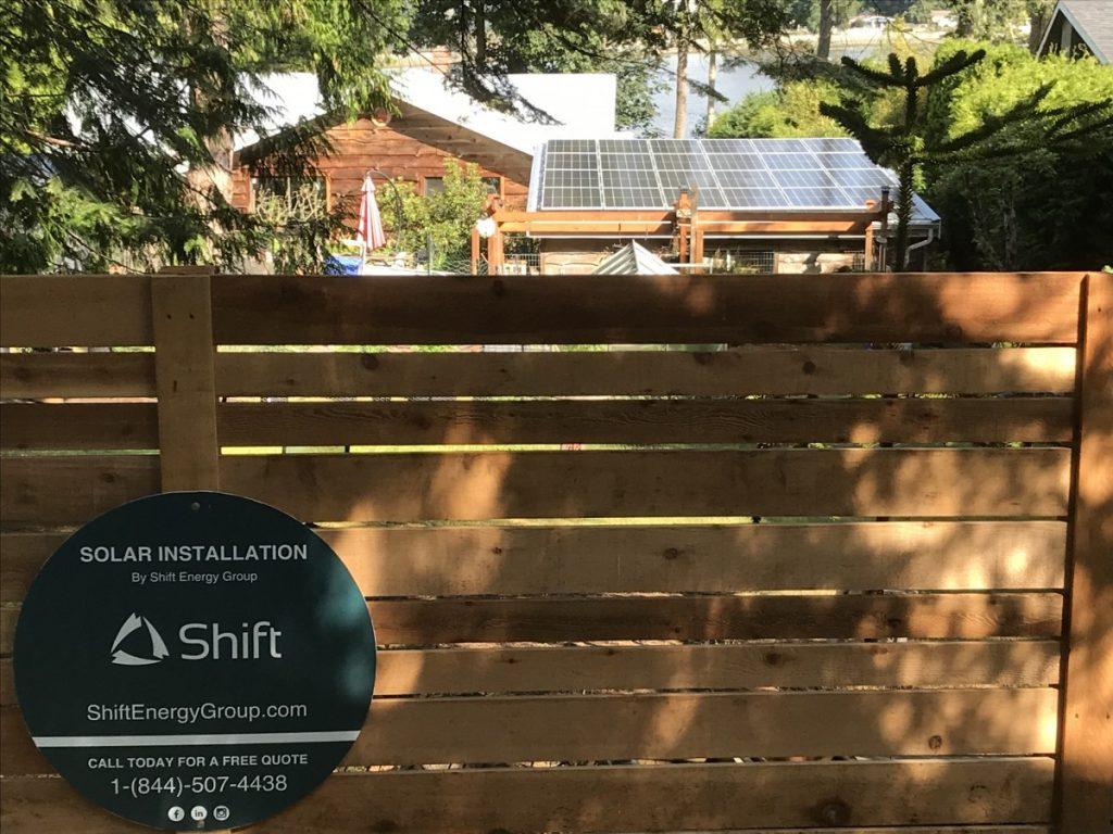 rooftop solar array Sooke BC