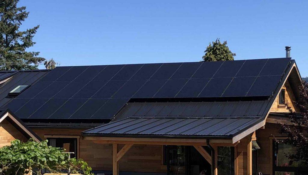 10.56kW Solar Panel Installation on Denman Island BC