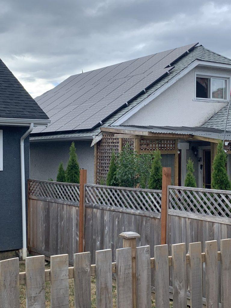 rooftop solar array Port Alberni BC