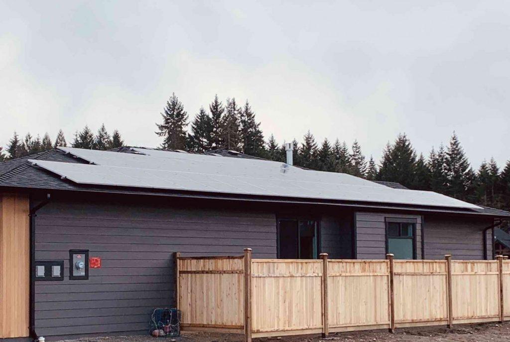 rooftop solar panel installation in Port Alberni BC