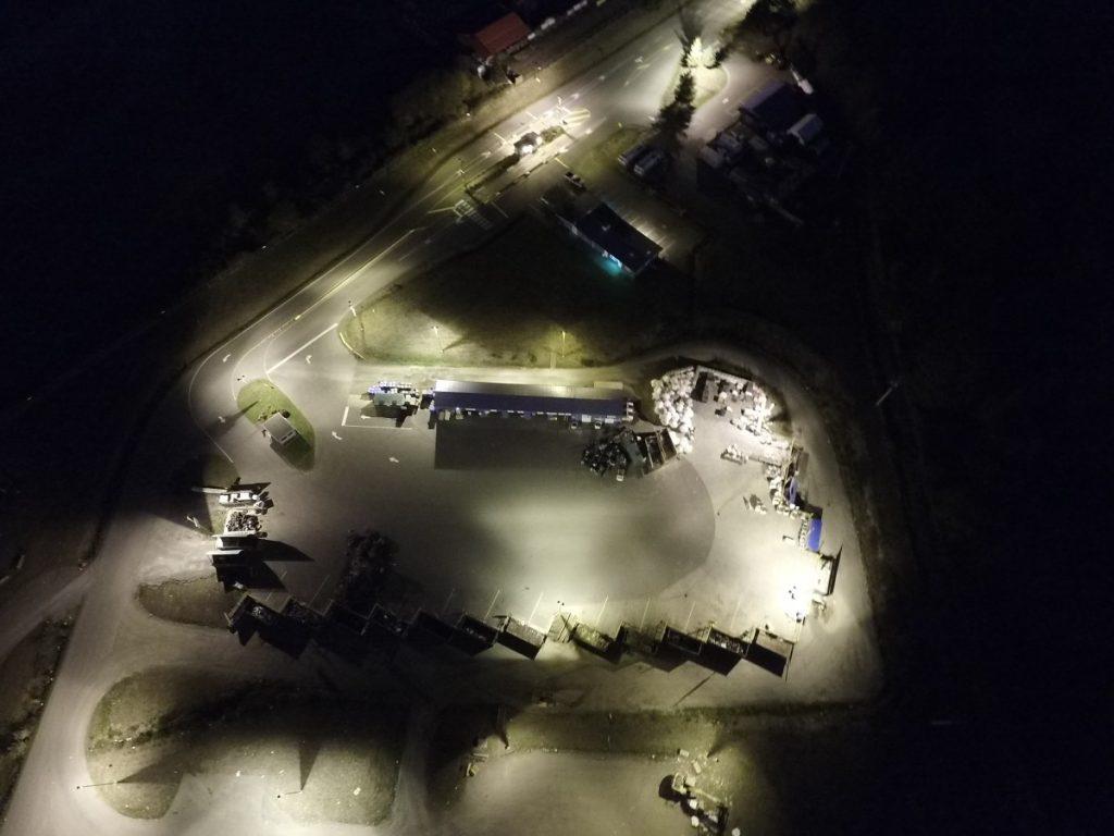 LED lighting upgrade Bings Creek Cowichan Valley