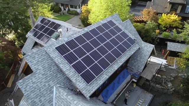 9.75kW Solar Panel Installation in Victoria BC