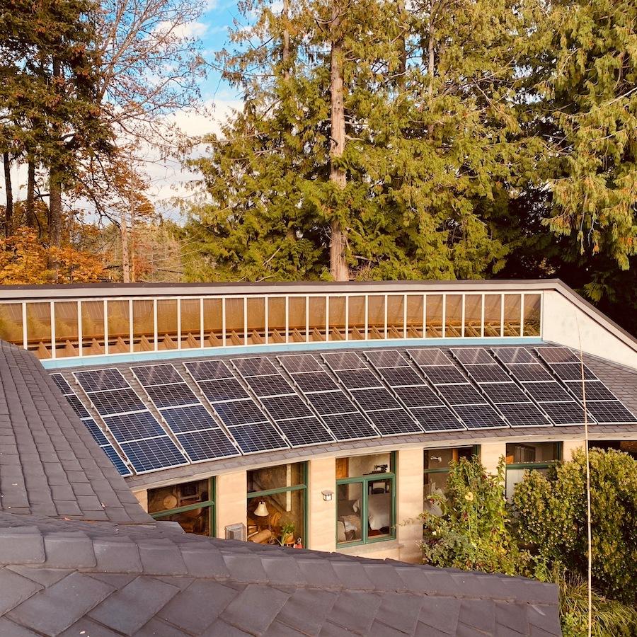 9.24kW Solar Panel Installation on Salt Spring Island BC
