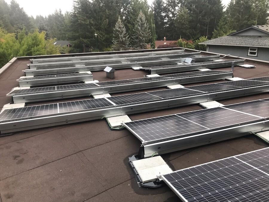 11.31kW Flat Roof Solar Panel Installation in Saanich BC
