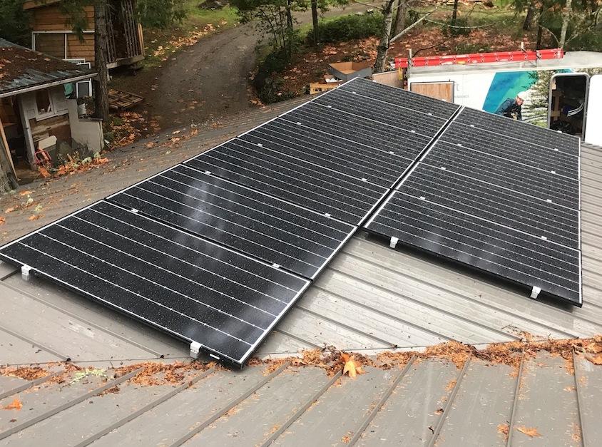 4.02kW Solar Panel Installation, with powerwall, on Salt Spring Island BC